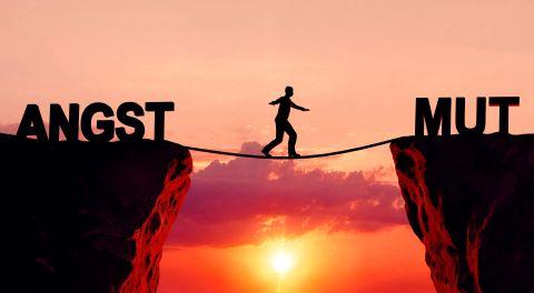 Angst und Mut Brücke