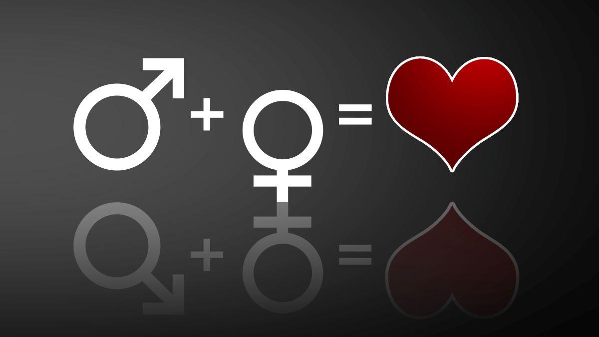 Symbolik für Mann + Frau = Liebe