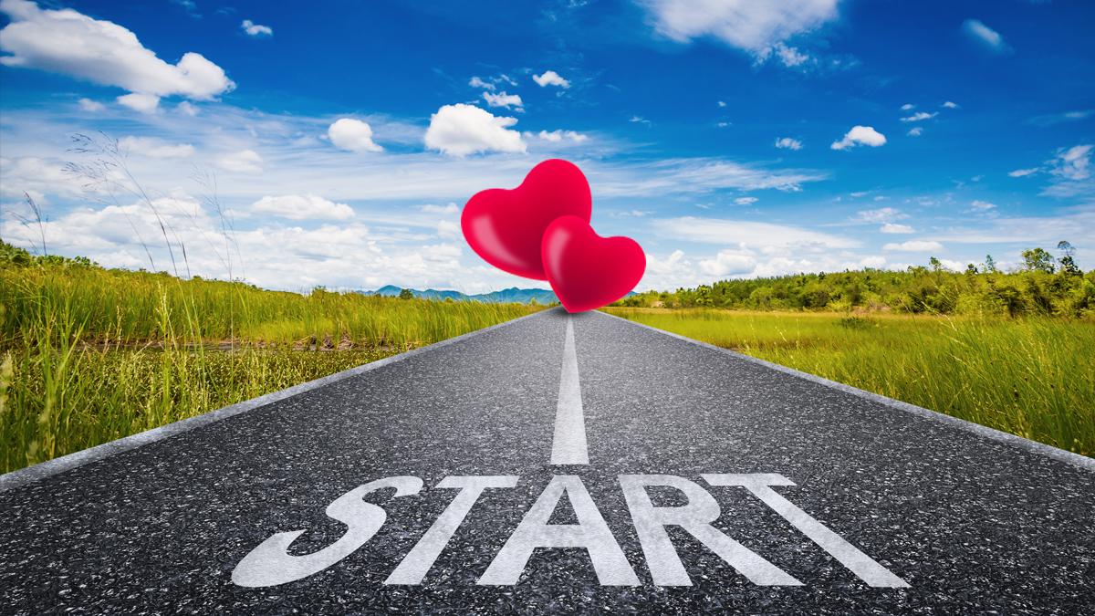 Vom Start mit Trennungsschmerzen in Richtung Ziel mit 2 Herzen